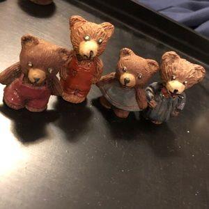 Four miniature bears